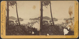 """View on the Columbia River, from the O.R.R., Cascades."" (Stereograph 1286)"