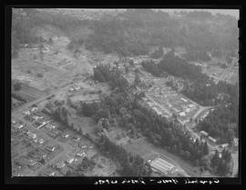 Aerial view of housing project in Portland area
