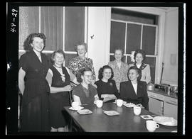 Group of women in office kitchen