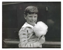 Boy with cotton candy