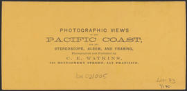 "Verso of, ""View on the Columbia River from the O.R.R. Cascades."" (Stereograph 1290)"