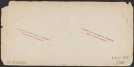 "Verso of, ""S.G. Reed, Cascades, Columbia River."" (Stereograph 1253)"