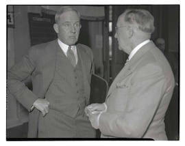 Senators Henry L. Corbett and Isaac Staples at opening of 1935 Oregon legislative session