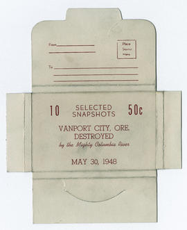 Envelope for commemorative photographs of the Vanport flood