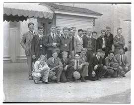 Group of boys, possibly F. F. A. members