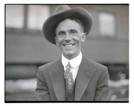 Unidentified man, possibly at livestock show