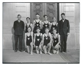 YMCA junior lifeguards, full-length portrait