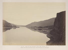 """O.34. View up the Columbia River from over Tunnel No. 3."""