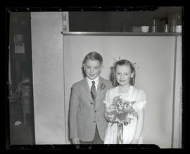 Anne Gribbon and Farrell Bird, 1947 Junior Rose Festival royalty