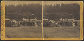 """Panorama of Oregon City and the Willamette Falls. No.4"" (Stereograph 1217)"