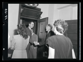 Unidentified men shaking hands