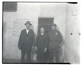 Tom Gurdane, William Edward Hickman, and Buck Lieuallen after Hickman's capture