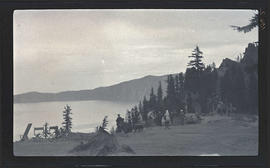 On the rim of Crater Lake