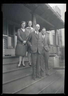 Governor A. W. Norblad with wife Edna Lyle Norblad, daughter Eleanor Lyle Norblad, and son Albin ...