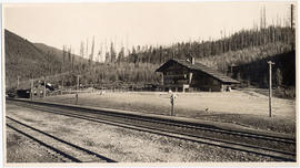 Train station and hotel, Belton, Montana
