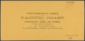 "Verso of, ""Residence of Mrs. Knight, Columbia River, opposite Government Island."" (Stereograph 1227)"