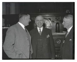 Three unidentified men at opening of 1935 Oregon legislative session?
