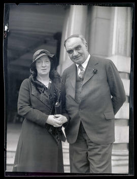 George L. Baker and unidentified woman at Portland City Hall