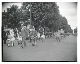 Children riding in parade