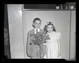 Luann Cassell and Roger Koontz, 1947 Junior Rose Festival royalty