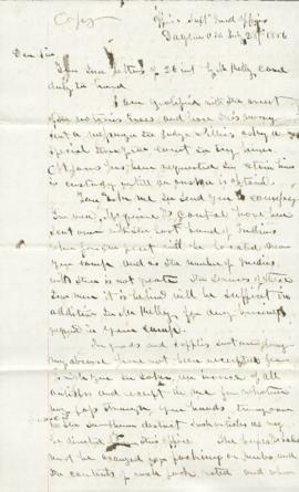 Copy of letter to C.M. Walker