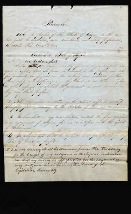 Preliminary draft of the Oregon State Constitution, Article I - Preamble and Bill of Rights