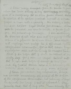 Copy of letter to Roberts