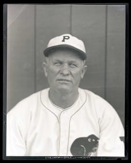 Man in Portland baseball uniform