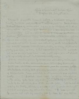 Draft of letter regarding the Treaty of June 25th 1855