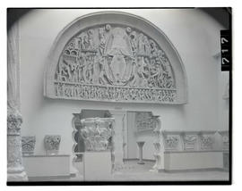 "Reproduction of ""The Last Judgment"" tympanum on display at museum?"