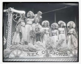 Rex Oregonus on Portland Rose Festival parade float