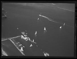 Aerial view of the Coos Bay regatta