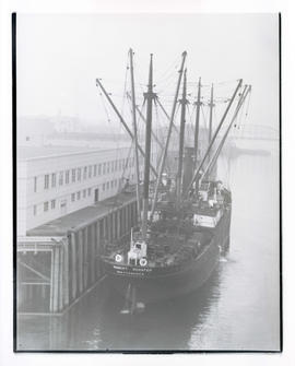 Ship, the Hubert Schafer, at dock