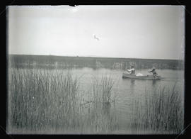 Finley and Bohlman in a Boat