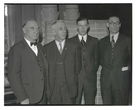 Fred Drager, James Vernon, Kenneth S. Perry, and Ed Duffy at opening of 1935 Oregon legislative s...