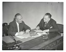 R. G. Barnett and Gordon J. Malone during conference for gas company executives