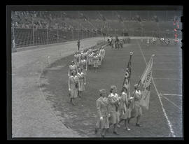 Members of Women's Emergency Corps? at Multnomah Stadium, Portland