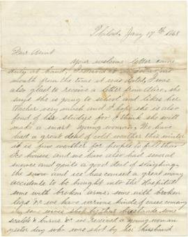Letter to Sarah Ann Palmer from A.D. Stockton