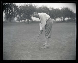 George L. Baker on golf course