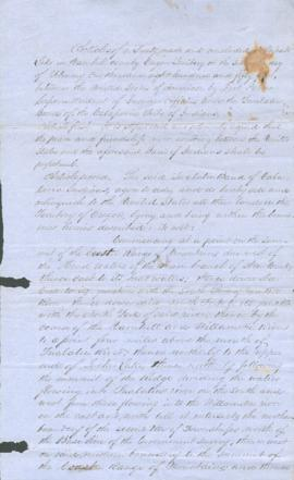 Draft of treaty between the U.S. and the Calapooia Tribe