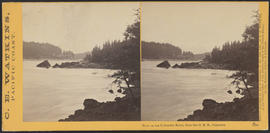 """View on the Columbia River, from the O.R.R., Cascades."" (Stereograph 1280)"