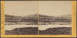 """Dalles City from Rockland. Columbia River."" (Stereograph 1303)"