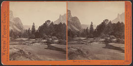"""View Up the Valley, Yosemite Valley, Mariposa County, Cal."" (Stereograph 1106)"