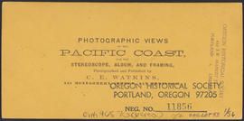 "Verso of, ""Imperial Mills, Oregon City."" (Stereograph 1224)"