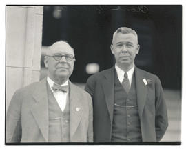 Stone, of YMCA, and unidentified man