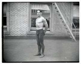 Russell, possibly a wrestler