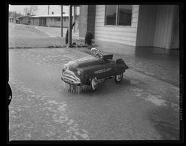 Ice-covered Toy Car in Southwood Park