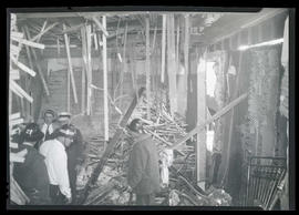 Interior of building damaged by fire?