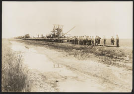 Machine Laying Tracks for Oregon Electric Railway
