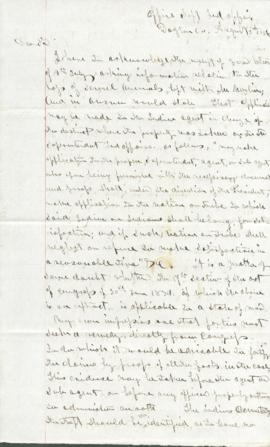 Letter to Thomas W. Beale